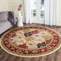 Safavieh Lyndhurst Traditional Oriental Multicolor/ Red Rug - 8' x 8' Round
