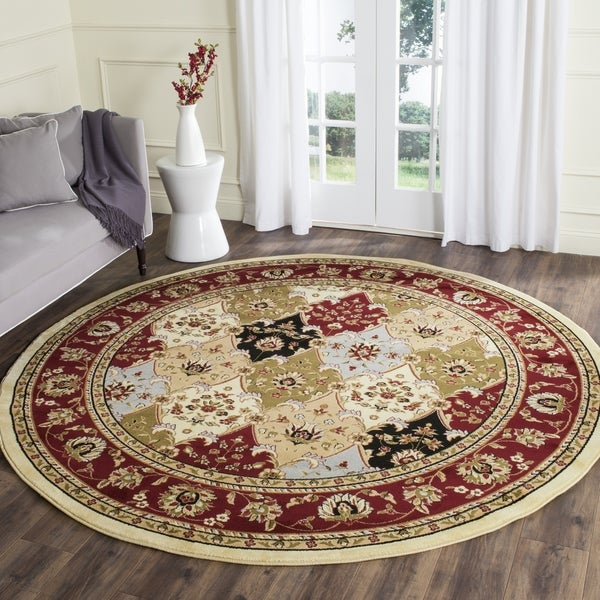 Safavieh Lyndhurst Traditional Oriental Multicolor/ Red Rug (8' Round)