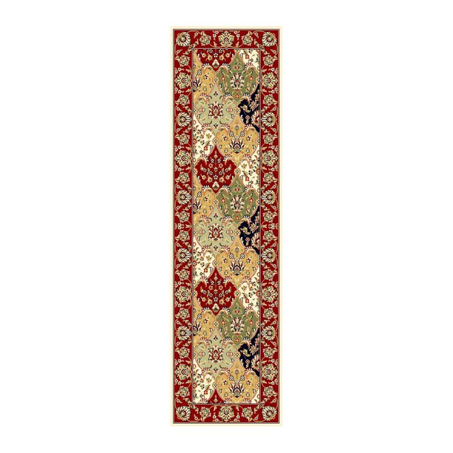 Lyndhurst Collection Traditional Multicolor/red Runner (23 X 8)