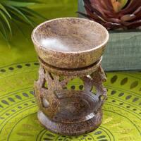 Handmade Om Design Aroma Holder (India)