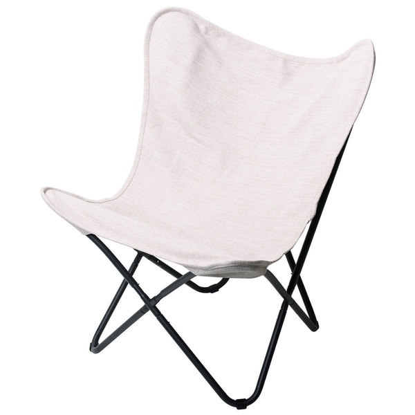 PatioPost Butterfly Outdoor Camping Chair With Replacement Cover, Tan