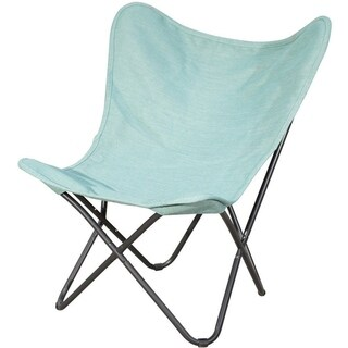 PatioPost Butterfly Chair Outdoor with Replacement Cover, Blue