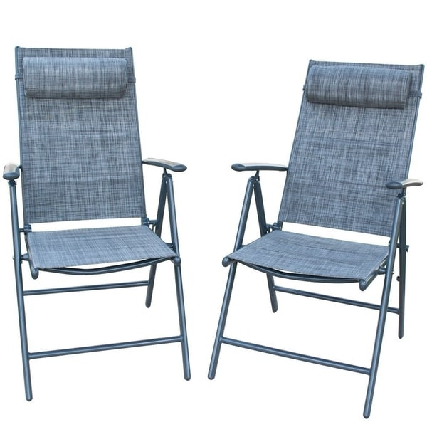 Shop Patiopost Folding Chairs Adjustable Outdoor Recliner