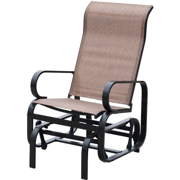 Patio Furniture Mesh Repair Patch: Shop PatioPost Sling Glider Outdoor Patio Chair Textilene