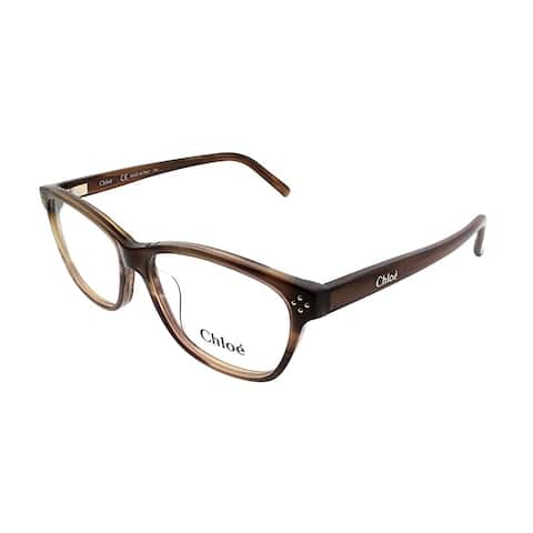 Chloe Rectangle CE 2633 282 Women Striped Brown Frame Eyeglasses