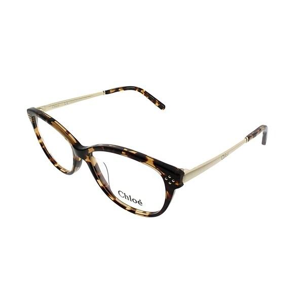 b31bed0f72d7b Shop Chloe Cat-Eye CE 2631 218 Women Havana Frame Eyeglasses - Free ...