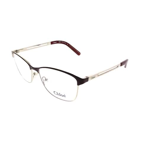 Chloe Square CE 2122 720 Women Light Gold Bordeaux Frame Eyeglasses