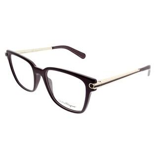 Salvatore Ferragamo Square SF 2773 510 Unisex Burgundy Frame Eyeglasses