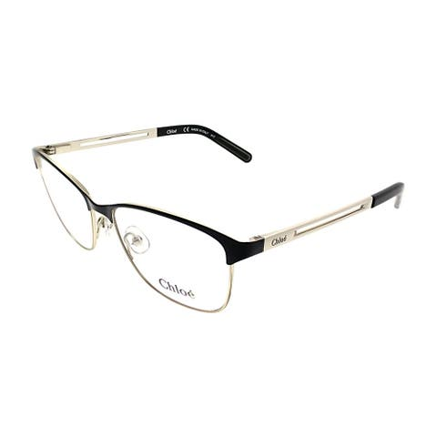 Chloe Square CE 2122 723 Women Light Gold Black Frame Eyeglasses