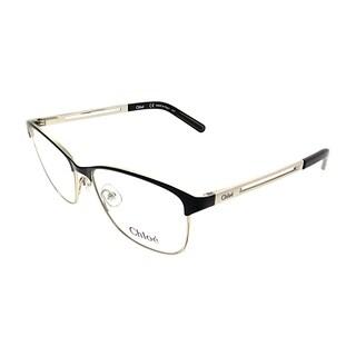 Chloe Square CE 2122 723 Women Light Gold Black Frame Eyeglasses