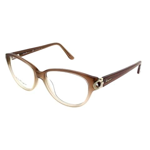 Salvatore Ferragamo Cat-Eye SF 2735 267 Women Gradient Beige Frame Eyeglasses
