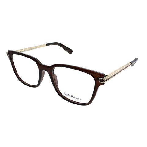 Salvatore Ferragamo Square SF 2773 210 Unisex Brown Frame Eyeglasses