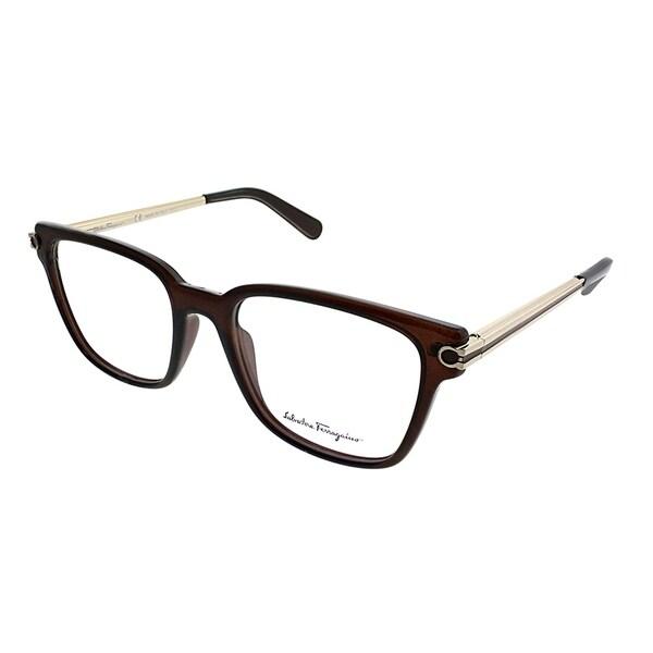 8aec8d30fc Salvatore Ferragamo Square SF 2773 210 Unisex Brown Frame Eyeglasses