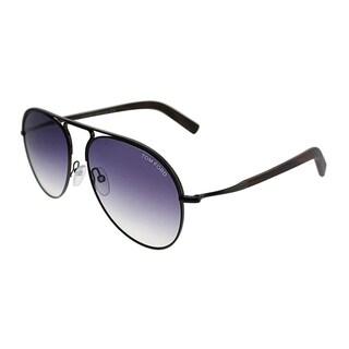 Tom Ford Aviator TF 448 Cody 48Z Unisex Shiny Dark Brown Frame Grey Gradient Lens Sunglasses