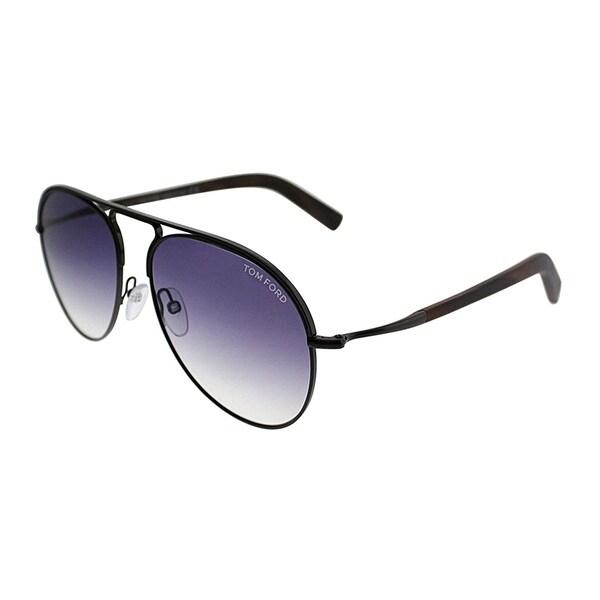 26d51b18daea2 Tom Ford Aviator TF 448 Cody 48Z Unisex Shiny Dark Brown Frame Grey  Gradient Lens Sunglasses
