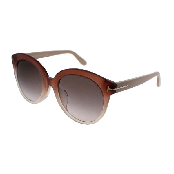 Shop Tom Ford Round TF 429 Monica 74F Womens Pink Gradient Frame ...