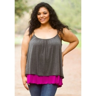 Sealed with a Kiss Women's Plus Size Layered Tank