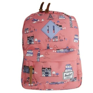 Herschel Supply Co. Heritage Kids Backpack, Paris Pink/Deep Periwinkle Rubber