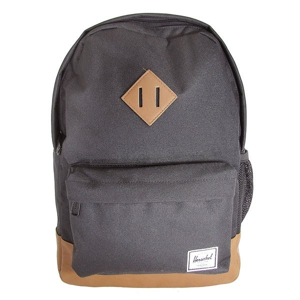 935502cebf3 Herschel Supply Company Heritage Youth Backpack, Black/Tan Synthetic Leather