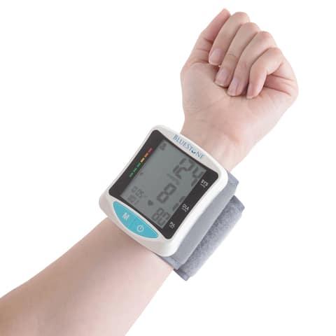 Bluestone Automatic Wrist Blood Pressure Monitor LCD Display with Adjustable Cuff