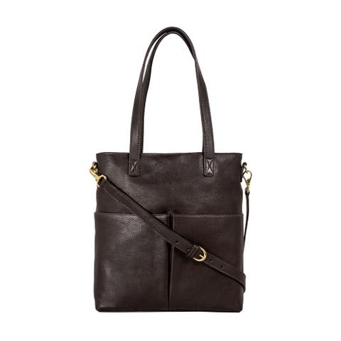 Hidesign Pepper Medium Leather Tote with Sling Strap