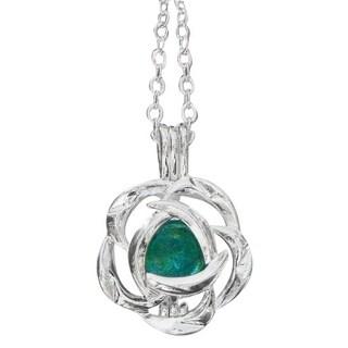 Handmade Recycled Vintage Mason Jar Silver Blossom Necklace (United States)