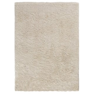 Central Oriental Luster Ivory Shag Rug (7'6 x 9'6)