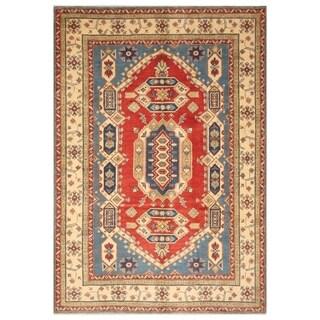 Handmade Kazak Wool Rug (Afghanistan) - 6'6 x 10'8