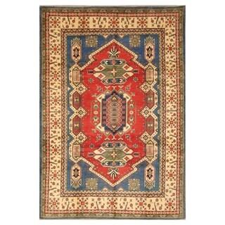 Handmade Kazak Wool Rug (Afghanistan) - 6'7 x 9'7
