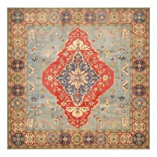 Handmade Herat Oriental Afghan Hand-knotted Tribal Kazak Wool Rug (10' x 10') - 10' x 10'