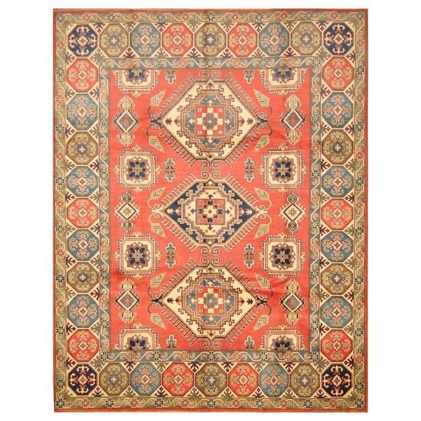 Handmade Herat Oriental Afghan Hand-knotted Tribal Kazak Wool Rug (Afghanistan) - 8' x 10'2