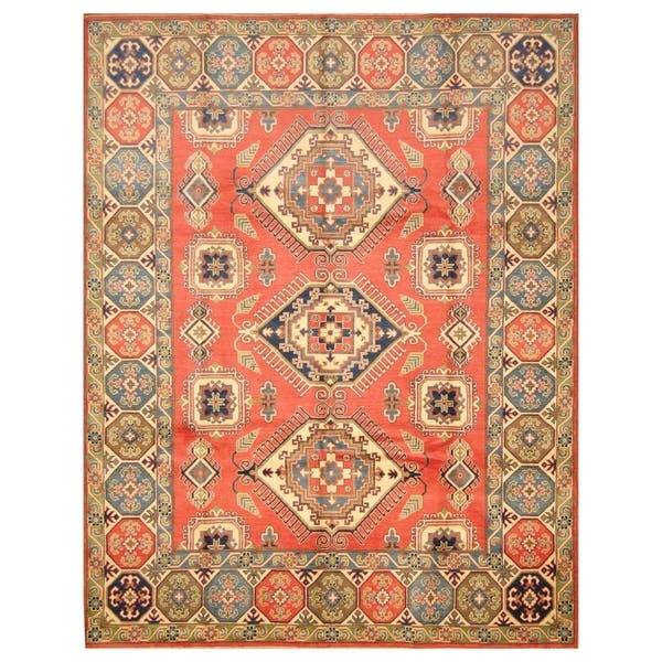 Handmade Kazak Wool Rug Afghanistan 8 X 10 2