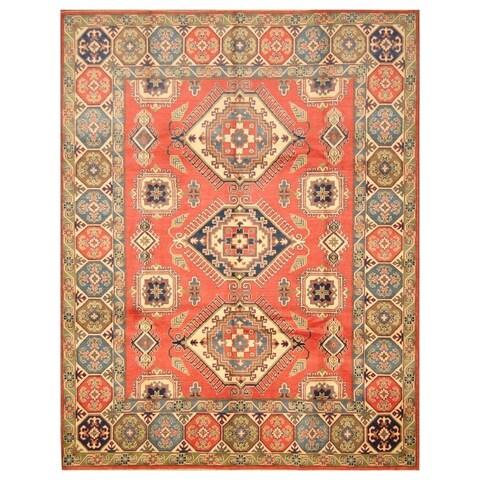 Handmade Herat Oriental Afghan Hand-knotted Tribal Kazak Wool Rug - 8' x 10'2 (Afghanistan)