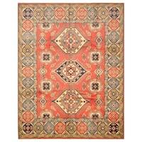 Handmade Herat Oriental Afghan Hand-knotted Tribal Kazak Wool Rug - 8' x 10'2