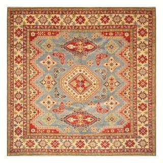 Handmade Kazak Wool Rug (Afghanistan) - 9'5 x 10'2