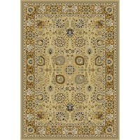 Traditional Gold Bordered Plush Area Rug