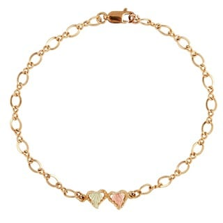 Black Hills Gold Heart Bracelet