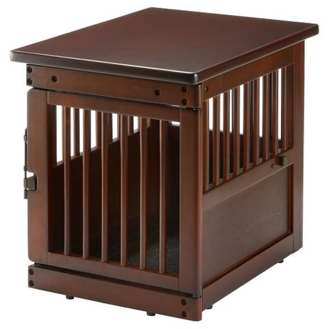 Richell Wooden End Table Dog Crate