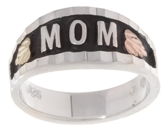 Black Hills Gold and Silver MOM Ring - Thumbnail 0