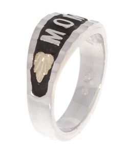 Black Hills Gold and Silver MOM Ring - Thumbnail 1