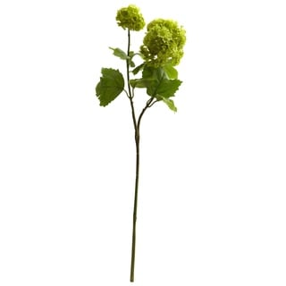"18"" Snowball Hydrangea Artificial Flower (Set of 6) - h: 18 in. w: 4 in. d: 4 in"