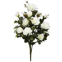 """28"""" Garden Rose Artificial Plant (Set of 2) - h: 28 in. w: 14 in. d: 13 in"""