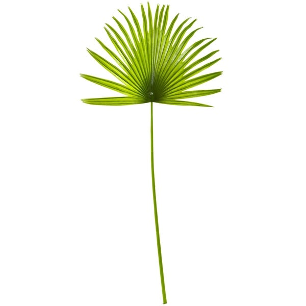 33'' Fan Palm Artificial Spray Plant (Set of 6) - h: 33 in. w: 14 in. d: 0.375