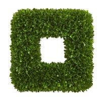 """17"""" Tea Leaf Square Wreath UV Resistant (Indoor / Outdoor) - 17"""" tea leaf square wreath"""