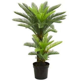 4.5' Double Potted Cycas Artificial Tree - h: 4.5 ft. w: 11.5 in. d: 11.5 in