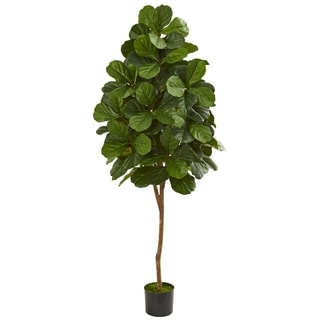 6' Fiddle Leaf Fig Artificial Tree - h: 6 ft. w: 17 in. d: 17 in
