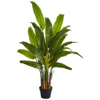 4.5' Traveler's Palm Artificial Tree - h: 4.5 ft. w: 9.5 in. d: 7 in