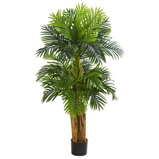 5' Triple Areca Palm Artificial Tree - h: 5 ft. w: 14 in. d: 14 in