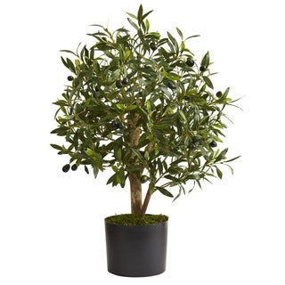 """29"""" Olive Artificial Tree - h: 29 in. w: 14 in. d: 14 in"""