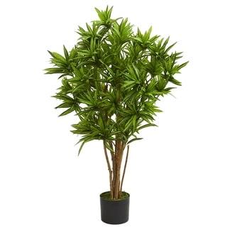 4' Dracaena Artificial Tree - h: 4 ft. w: 25 in. d: 23 in